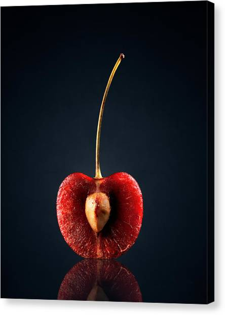 Fruits Canvas Print - Red Cherry Still Life by Johan Swanepoel