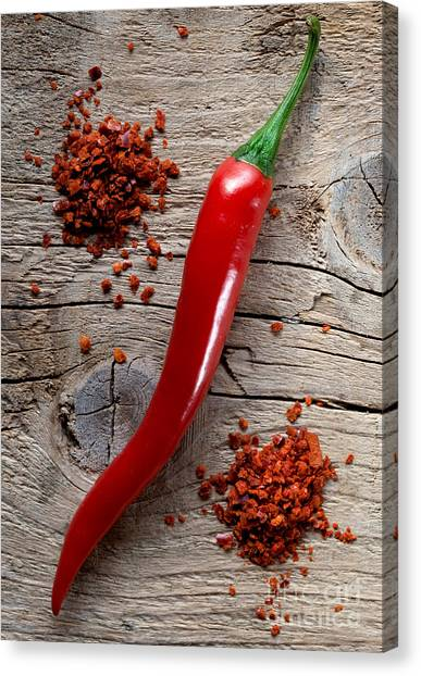 Salsa Canvas Print - Red Chili Pepper by Nailia Schwarz