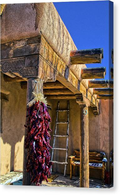 Red Chillies At New Years Canvas Print
