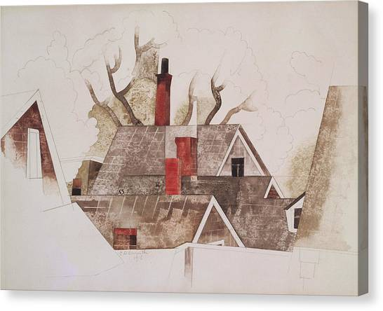 Precisionism Canvas Print - Red Chimneys by Charles Demuth