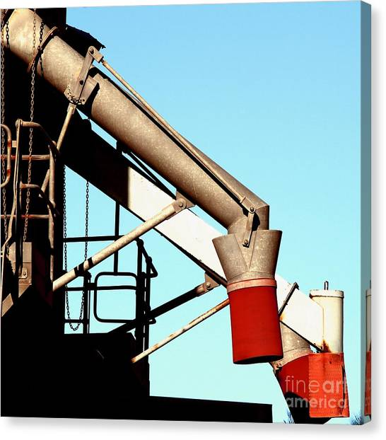 Canvas Print featuring the photograph Red Chutes by Stephen Mitchell
