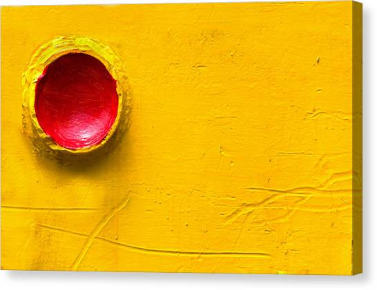 Red Circle In The Corner Canvas Print