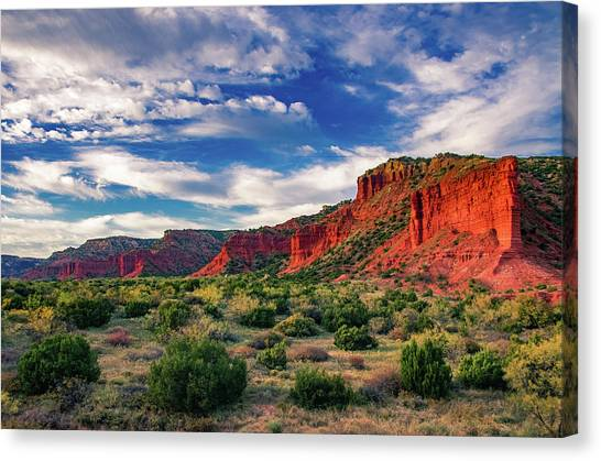 Red Cliffs Of Caprock Canyon 2 Canvas Print