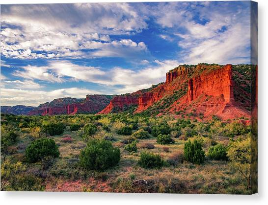 Red Cliffs Of Caprock Canyon Canvas Print