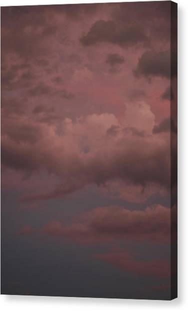 Canvas Print featuring the photograph Red Clouds Iv by Dylan Punke