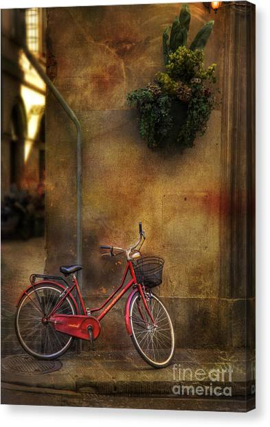 Red Crown Bicycle Canvas Print