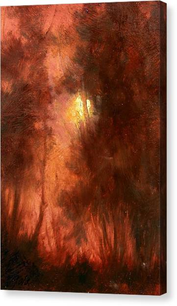 Canvas Print - Red Dawn Ridgefield Refuge by Jim Gola