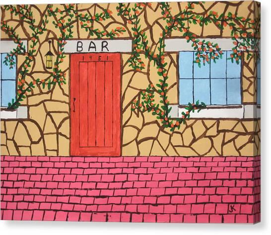Canvas Print - Red Door Bar by Jeffrey Koss