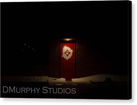 Taekwondo Canvas Print - Red Door by Derry Murphy