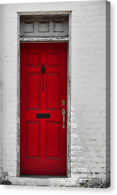 Red Door Canvas Print by JAMART Photography