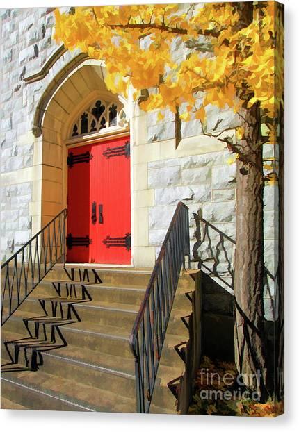Harrisburg Canvas Print   Red Door Tradition By Geoff Crego