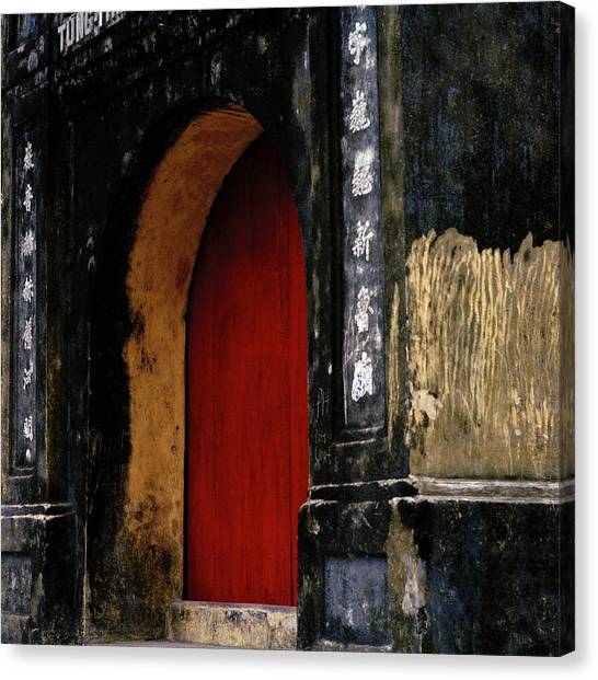 Red Doorway Canvas Print