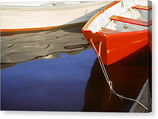 Red Dory Photo Canvas Print by Peter J Sucy