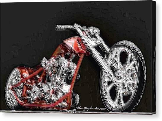 Red Embossed Custom Canvas Print by Wayne Bonney