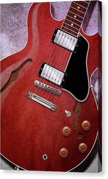 Red Es-335 Canvas Print