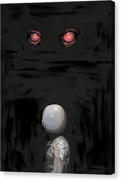 Science Fiction Canvas Print - Red Eyes by Scott Listfield