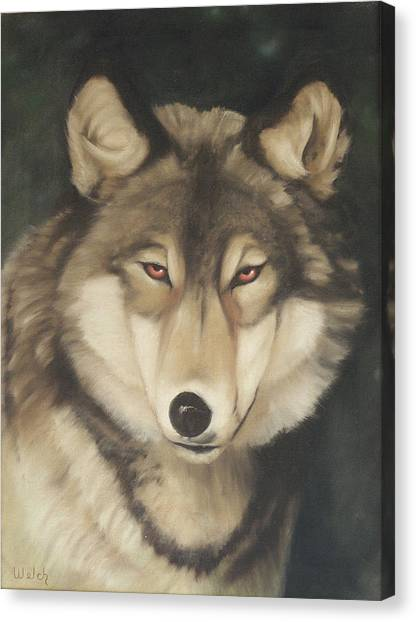 Red Eyes Canvas Print by Steven Welch