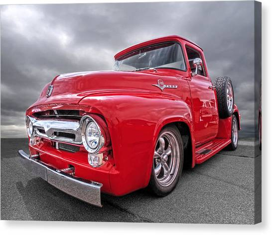 Red F-100 Canvas Print