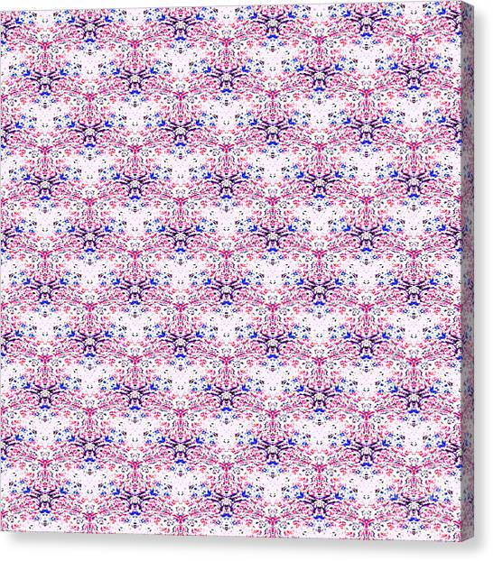 Red Fabric Pattern Canvas Print