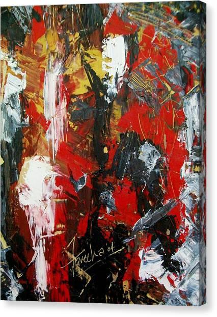 Red Fascism  Canvas Print by Fareeha Khawaja