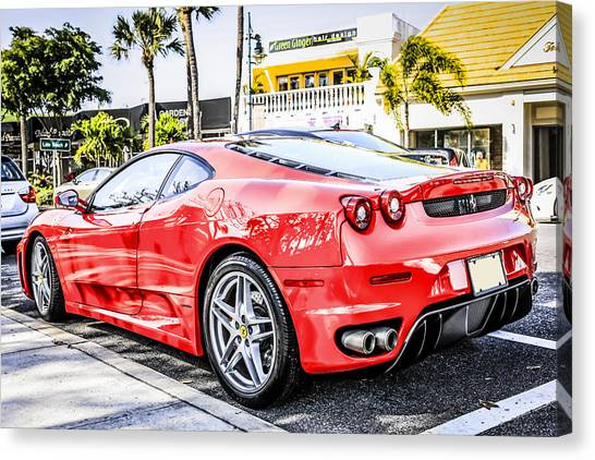 Red Ferrari Canvas Print