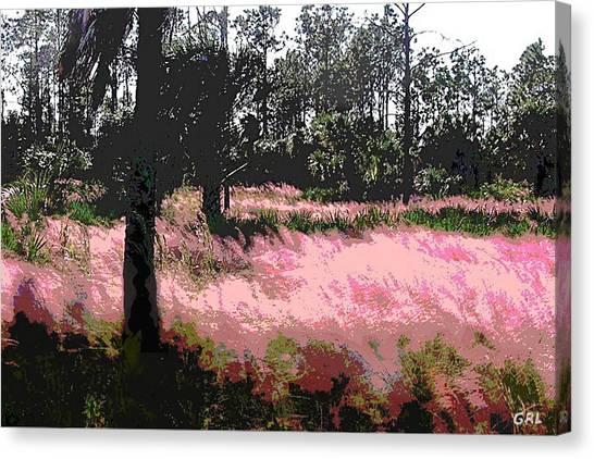 Red Fire Grass Field Gulf Coast Florida Detail Canvas Print by G Linsenmayer