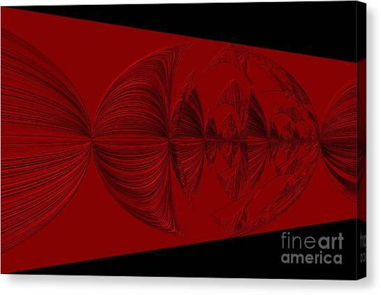 Red And Black Design. Art Canvas Print