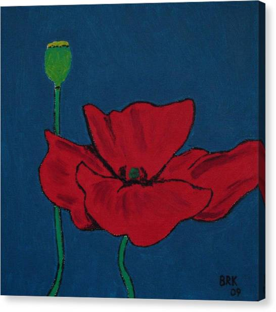 Red Flower Canvas Print by Bo Klinge