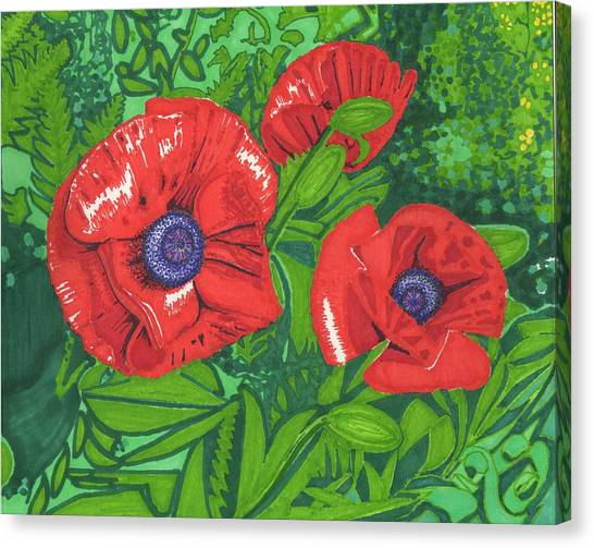 Red Flower Canvas Print by Will Stevenson