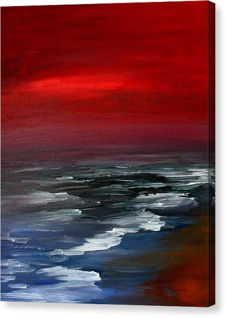 Red For Love Canvas Print by Julie Lueders