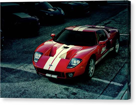 Red Ford Gt Canvas Print