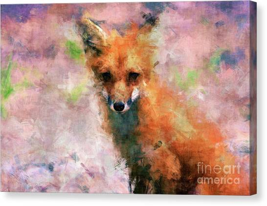 Canvas Print featuring the digital art Red Fox  by Claire Bull