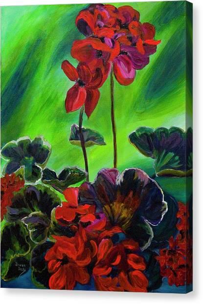 Red Geranium Canvas Print