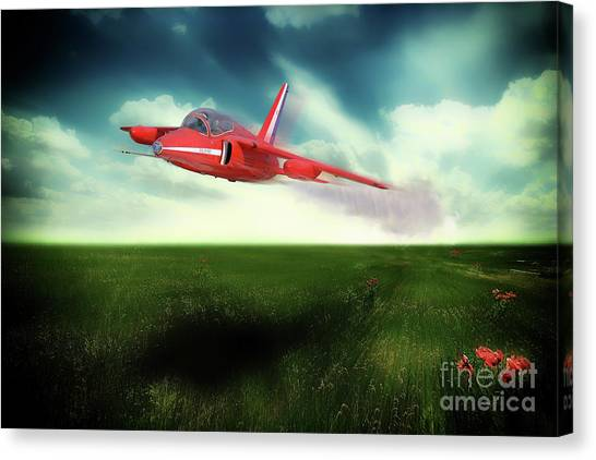Gnats Canvas Print - Red Gnat In Low by J Biggadike