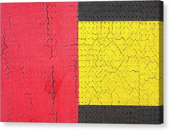 Canvas Print - Red Grey Yellow 01 by Richard Nixon