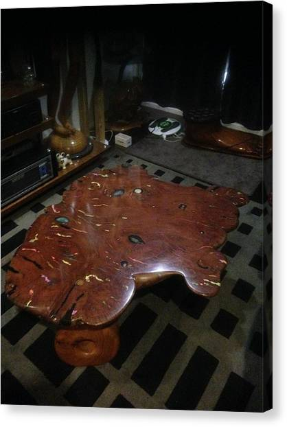 Red Gum Coffee Table Sculpture by Lionel Larkin