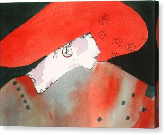 Canvas Print - Red Hat by Jane Ferguson