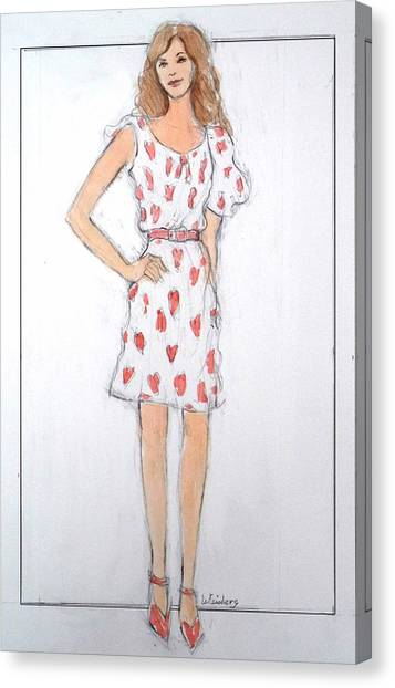 Red Heart Dress Canvas Print