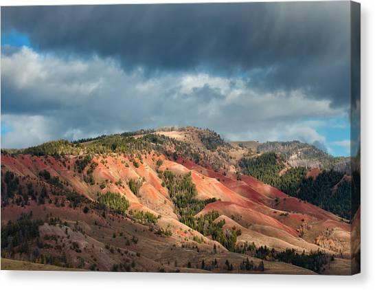 Bishop Hill Canvas Print - Red Hills Landscape by Kathleen Bishop