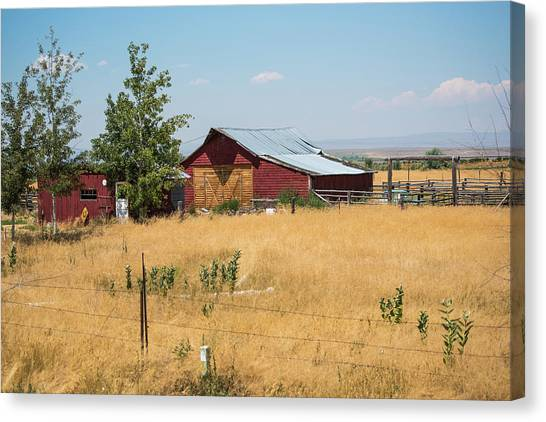 Red Home On The Range Canvas Print