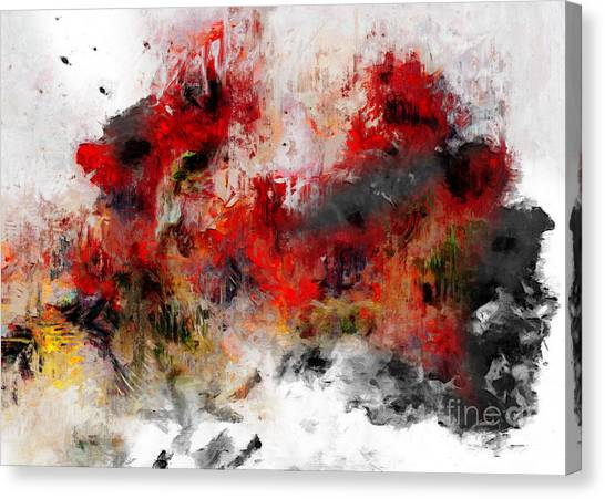 Canvas Print featuring the photograph Red Hope  by Claire Bull