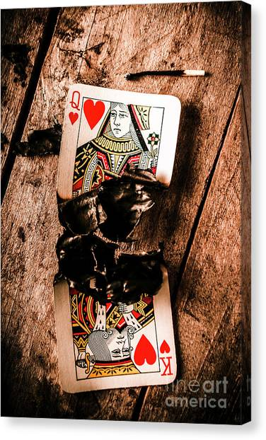 Ashes Canvas Print - Red Hot Blackjack by Jorgo Photography - Wall Art Gallery