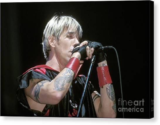Red Hot Chili Peppers Canvas Print - Red Hot Chili Peppers Anthony Kiedis by Concert Photos
