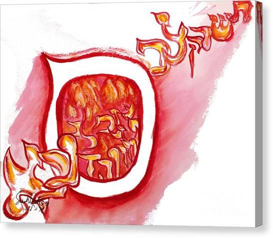 Red Hot Samech Canvas Print