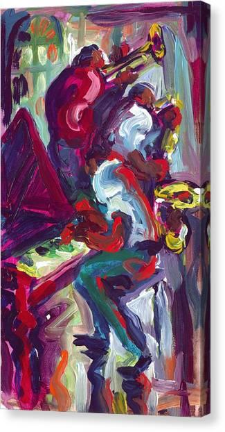Red Hot Trio Canvas Print by Saundra Bolen Samuel