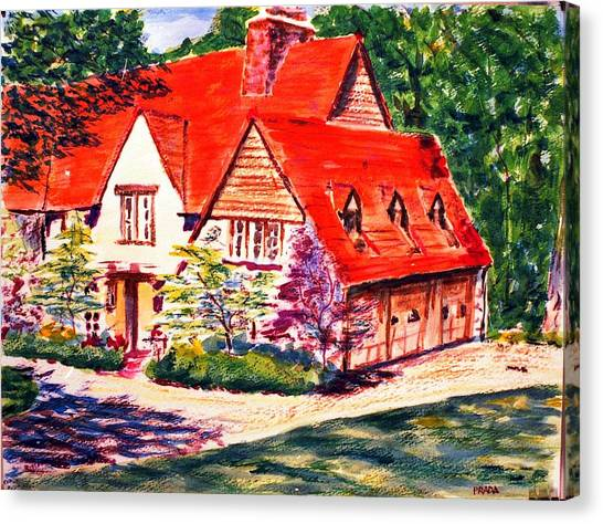 Red House In Clayton Canvas Print by Horacio Prada