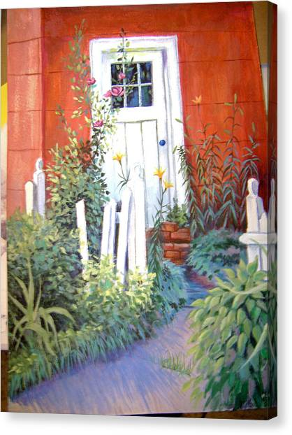 Red House Canvas Print by Judy Keefer