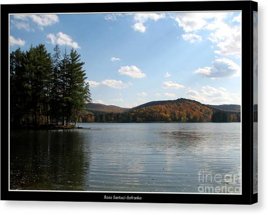 Canvas Print featuring the photograph Red House Lake Allegany State Park Ny by Rose Santuci-Sofranko