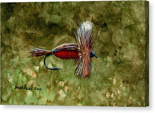 Red Humpy Canvas Print