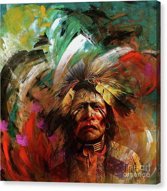 Red Indians 02 Canvas Print